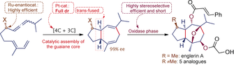 Concise, Enantioselective, and Versatile Synthesis of (-)-Englerin A Based on a Platinum-Catalyzed [4C+3C] Cycloaddition of Allenedienes. Synfacts 2017, 13 (01), 0012, DOI: 10.1055/s-0036-1589811, Reg-No.: C07316SF